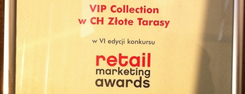 RETAIL MARKETING AWARDS 2013 for VIP Collection